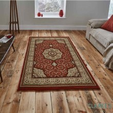 Heritage Traditional Terracotta Rug 120 x 170cm