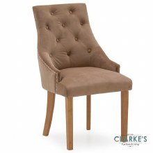 Hobbs Cedar Velvet Dining Chair, Natural Legs