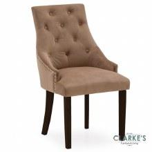 Hobbs Cedar Velvet Dining Chair, Wenge Legs