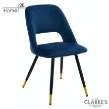 Bursa Velvet Dining Chair Navy
