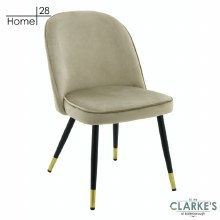 London Velvet Dining / Accent Chair Beige