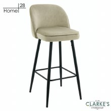 London Velvet Bar Stool Beige