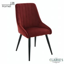 Madrid Velvet Dining / Accent Chair Crimson Red