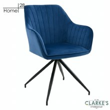 Milan Velvet Dining / Accent Chair Blue