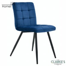 Palma Velvet Dining Chair Navy
