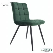 Palma Velvet Dining Chair Green