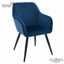 Vienna Velvet Dining / Accet Chair Navy