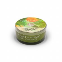 Heart & Home Basil, lime & Mandarin Scent Cup Candle