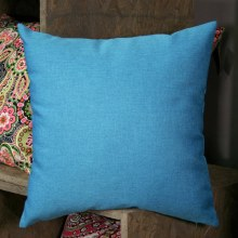 Linen Weave Turquoise Cushion