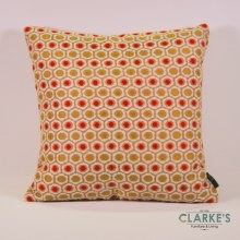 Deco Weave Honeycomb Coral Ochre Cushion