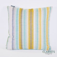Deco Weave Stripe Multi Blue Cushion