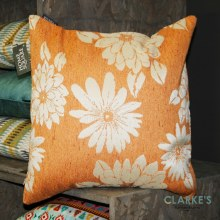 Floral Surprise Orange Cushion