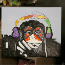 Monkey Looking At You Oil Painting