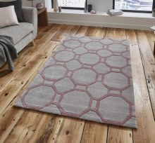 Hong Kong Rug HK4338 Grey/Rose 120x170cm