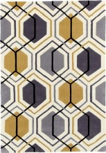 Hong Kong Rug HK7526 Grey/Yellow 120x170cm