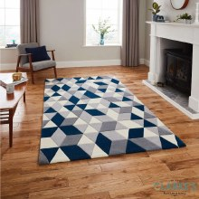 Hong Kong Rug HK3653 Grey / Navy 120 x 170cm