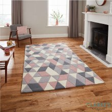 Hong Kong Rug HK3653 Grey / Rose 120 x 170cm