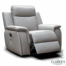 Infinity 1 seater half leather recliner