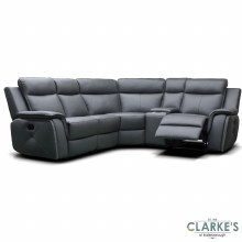 Infinity Modular Half Leather Corner Sofa Grey