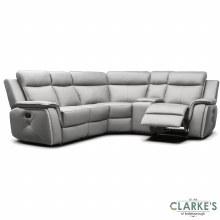 Infinity Modular Half Leather Corner Sofa Taupe Grey