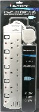 Innotech 4 gang 2 USB Port Extension Lead
