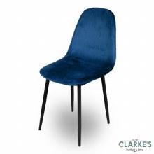 Inoui Velvet Dining Chair Blue