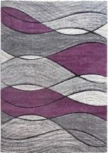 Impulse Waves Purple Rug 67x120cm