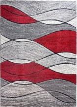 Impuls Waves Red Rug 67x120cm