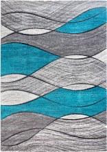 Impulse Waves Teal Rug 67x120cm