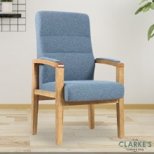 Jack light blue fireside chair