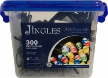 Jingles 300 LED (18m) Christmas Multicolour Lights
