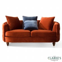 Jools Copper buttoned velvet 3 seater sofa