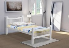 Jordan white bed frame
