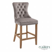 Kacey mink velvet bar stool