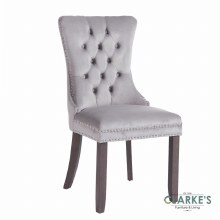 Kacey grey velvet dining chair