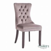 Kacey mink velvet dining chair