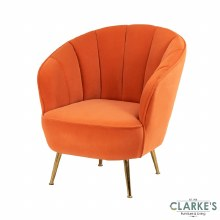 Kendall Accent Chair Burnt Orange