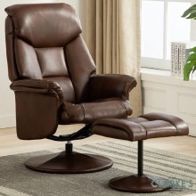 Kenmare Recliner Chair with Foot Stool Tan