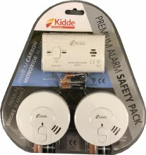 Kidde Premium Safety Pack. 2 x Smoke Alarms, Carbon Monoxide Alarm