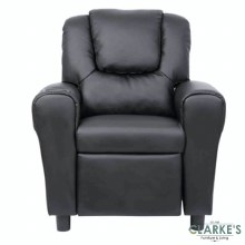 Kids Recliner Chair with Cup Holder Black