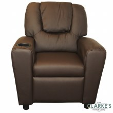Kids Recliner Chair with Cup Holder Chocolate