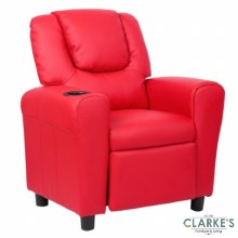 Kids Recliner Chair with Cup Holder Red