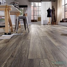 Krontex Harbour Oak Grey 8mm Laminate Floor. Available in the Shop