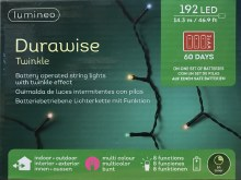Lumineo Durawise 192 LED (14.3m) Christmas Battery Multi-Colour Lights
