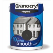Leyland Granocryl Smooth Masonry Paint Black 2.5 Litre