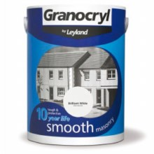 Leyland Granocryl Smooth Masonry Paint Brilliant White 5 Litre