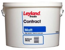 Leyland 10 Litre Brilliant White Matt Paint