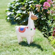 Llama Rama Garden Decoration White