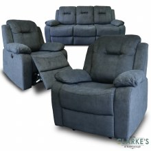 Cosmic Fully Electric Reclining 3+1+1 Sofa Suite Charcoal Grey. Fast Dispatch ! FREE Delivery !