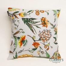 Linen Weave Botanic Terracotta Cushion